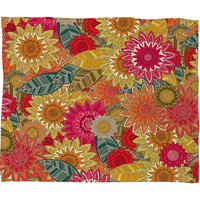 Sharon Turner Sunshine Garden Fleece Throw Blanket