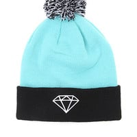 Diamond Supply Co Stripe Pom Beanie at PacSun.com