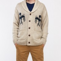 Obey / Bird Cardigan in Oatmeal