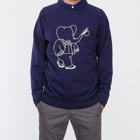 Soulland / Big Babar Sweat in Navy