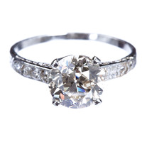 Antique Old European Diamond Ring