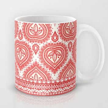Decorative Red Mug by Aimee St Hill