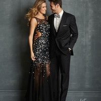 Night Moves by Allure 2014 Prom Dresses - Black Tulle Bauble Prom Dress