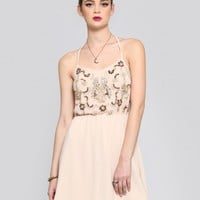 LITTLE DARLING EMBELLISHED DRESS