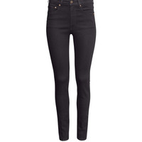 H&M - Skinny High Jeans - Black - Ladies