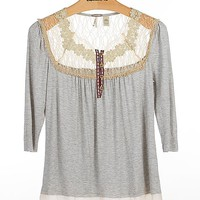 Gimmicks by BKE Pieced Henley Top