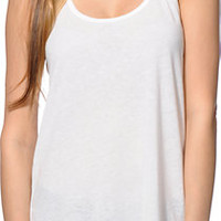 Sirens & Dolls Natural Nubby Racerback Tank Top