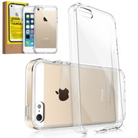 [NEW RELEASE] RINGKE FUSION® Apple iPhone 5 / 5S Clear Case Bumper [CRYSTAL VIEW] Best Selling Shock Absorption Bumper + Anti Scratch Clear Back + Design It Yourself Premium Hybrid Case [Eco/DIY Pkg.] for iPhone 5S / 5