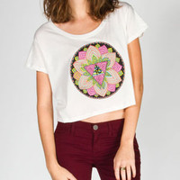FULL TILT Eye Medallion Womens Crop Tee