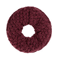 Red Popcorn Knit Snood