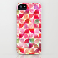 Oh Pink! - textured geometric pattern in candy pinks & mint iPhone & iPod Case by micklyn