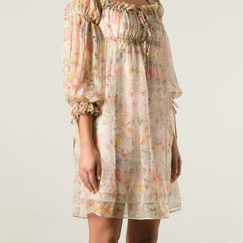 Alexander Mcqueen Floral Gypsy Dress