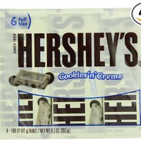 Hershey's Cookies 'n' Creme Bars, 9.3-Ounce Packages (Pack of 4)