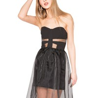 Organza bustier dress