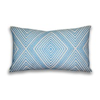 Alexa Embroidered Pillow - Maui Blue