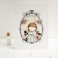 Alice 6x8 cute art print by atpalicis on Etsy