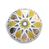 Round Kaleidoscope Pillow