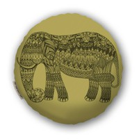 Elephant Pillow - Gold