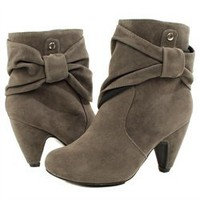 Pink Duchess Elle3 Gray High Shaft Side Bow Ankle Boot and Womens Fashion Clothing  Shoes - Make Me Chic