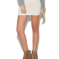 Ribbed Sweater Mini Skirt | Wet Seal