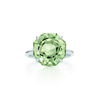 Tiffany & Co. - Tiffany Sparklers ring in sterling silver with a green quartz.