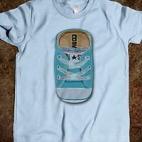 BLUE TEAL CASUAL all star converse SHOES KIDS TEE TSHIRT