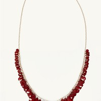Fringe Teardrop Necklace