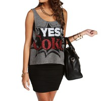 Gray Yes Coke Tank