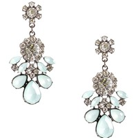 Mint Gemstone Flower Drop Earrings