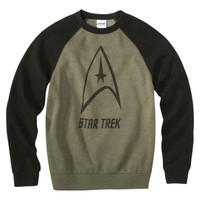 Men's Star Trek Raglan Fleece - Green