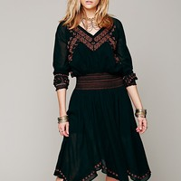 Neo Folk Embroidered Dress