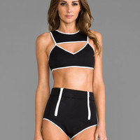 This is a Love Song Time Frame Bikini in Black & White