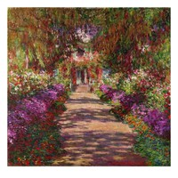 Path in Monet's Garden, Giverny Giclee Print by Claude Monet at Art.com