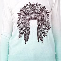 Ombré Feather Headdress Sweatshirt