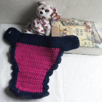 Holiday Special Crocheted Diaper Cover, Newborn Baby Girl Diaper Soaker, Ready to ship
