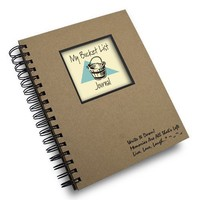 My Bucket List Prompt Journal/Notebook Spiral Bound - Hard Cover and Eco Friendl
