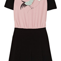 Victoria, Victoria Beckham Bird-print crepe dress – 55% at THE OUTNET.COM