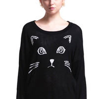 Cat face sweater