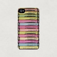 Assortment of Crayons iPhone 4 4s 5 5s 5c Case