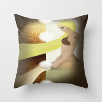 Tricky Throw Pillow by Müge Başak