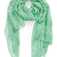 Lulu Puffy Paint Woven Scarf (Juniors) | Nordstrom