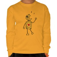Happy Singing Robot Yellow Kids Long-Sleeve