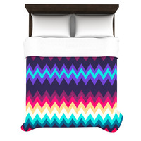 "Nika Martinez ""Surf Chevron"" Fleece Duvet Cover"