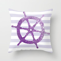 GLITTER HELM IN PURPLE Throw Pillow by colorstudio
