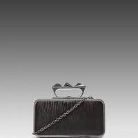 BCBGMAXAZRIA Baguette Knuckle Duster Clutch in Black