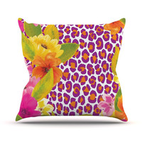 "Aimee St. Hill ""Leopard Pink"" Throw Pillow"