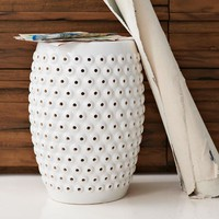 Bubble Ceramic Side Table - White