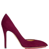 The Lady Is A Vamp Pump In Rouge by Charlotte Olympia for Preorder on Moda Operandi