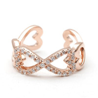 girlsluv.it - infinity heart ring, in pinkgold