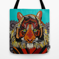 tiger chief Tote Bag by Sharon Turner